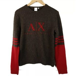 Vintage Armani Exchange Knit Spell Out Sweater M